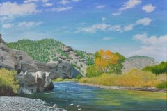 Canadian-River-in-Colorado-in-Late-September-2012 Oil on Linen 30×40