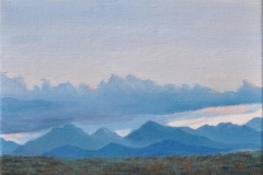 Clouds & Mountains 2014 Oil on Linen 9x12
