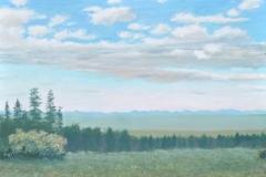 Evening View Above Westcliff, 2013 Oil on Linen 18x24
