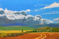 Storm-Coming-Over-a-Blue-Mountain-2020-Oil-on-Linen-30-x-48
