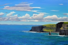 The Cliffs of Moher 2019 Oil on Linen 30x48