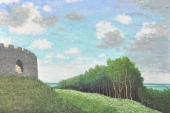 Restormel Castle, Cornwall Oil on Linen 30x40