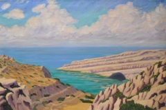 The-Bay-at-Matala-24x36-Oil-on-Linen