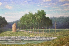 Tower-by-a-Stream-30x40-Oil-on-Linen