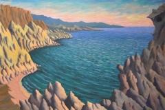 View-above-Red-Beach-Near-Matala-Oil-on-Canvas 36x48