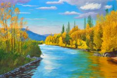 Bend-on-the-Conejos-River-2020-Oil-on-Linen-30x48-1-scaled