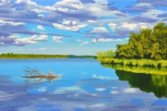 Late-September-at-White-Rock-Lake-2021-24x36-Oil-on-Linen-scaled