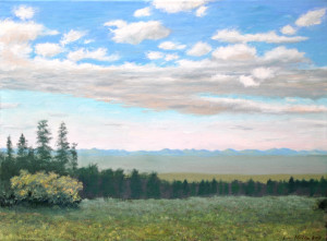 Evening View above Westcliffe, 18x24 Oil on Canvas