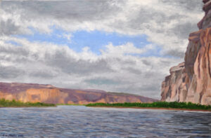 Canoing Down the Rio Grande Oil on Linen 20x30