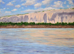 Mexican Cliffs Across the River 18x24 Oil on Canvas