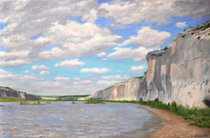 Rio Grande Afternoon Oil on Linen 24x36