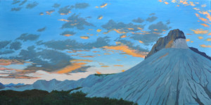 Dawn at Big Bend 24x48 Oil on Linen 2014