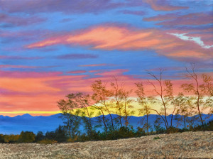 Flaming Sky, Westcliff 30x40 oil on linen 2016