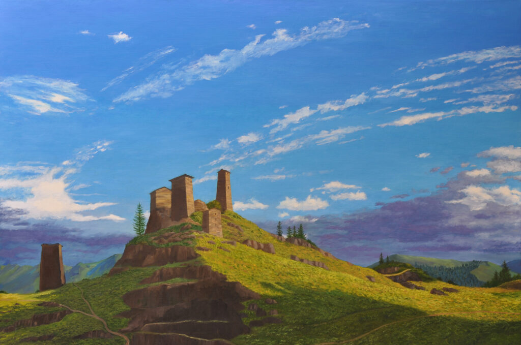 Citadel at Omalo 40x60 Oil on Linen