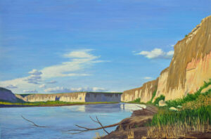 October Late Afternoon on the Rio Grande 24x36 Oil on Linen 2015