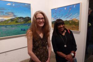 Scenic Artist Linda Noland and Actress Rhonda Boute